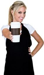 ilustrasi perempuan memegang segelas kopi