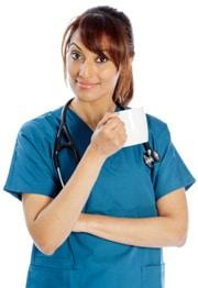 ilustrasi dokter dan kopi