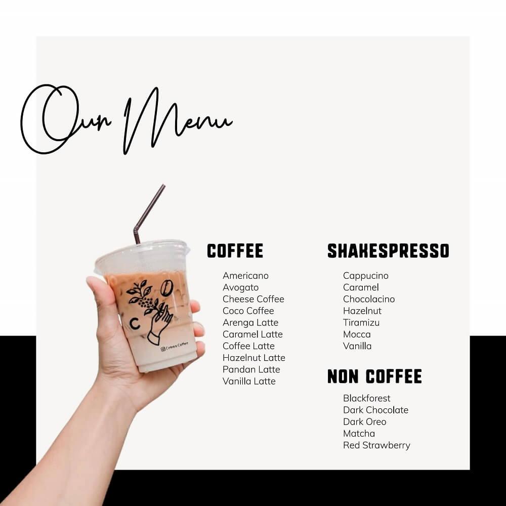 varian rasa minuman kopi susu cetroo