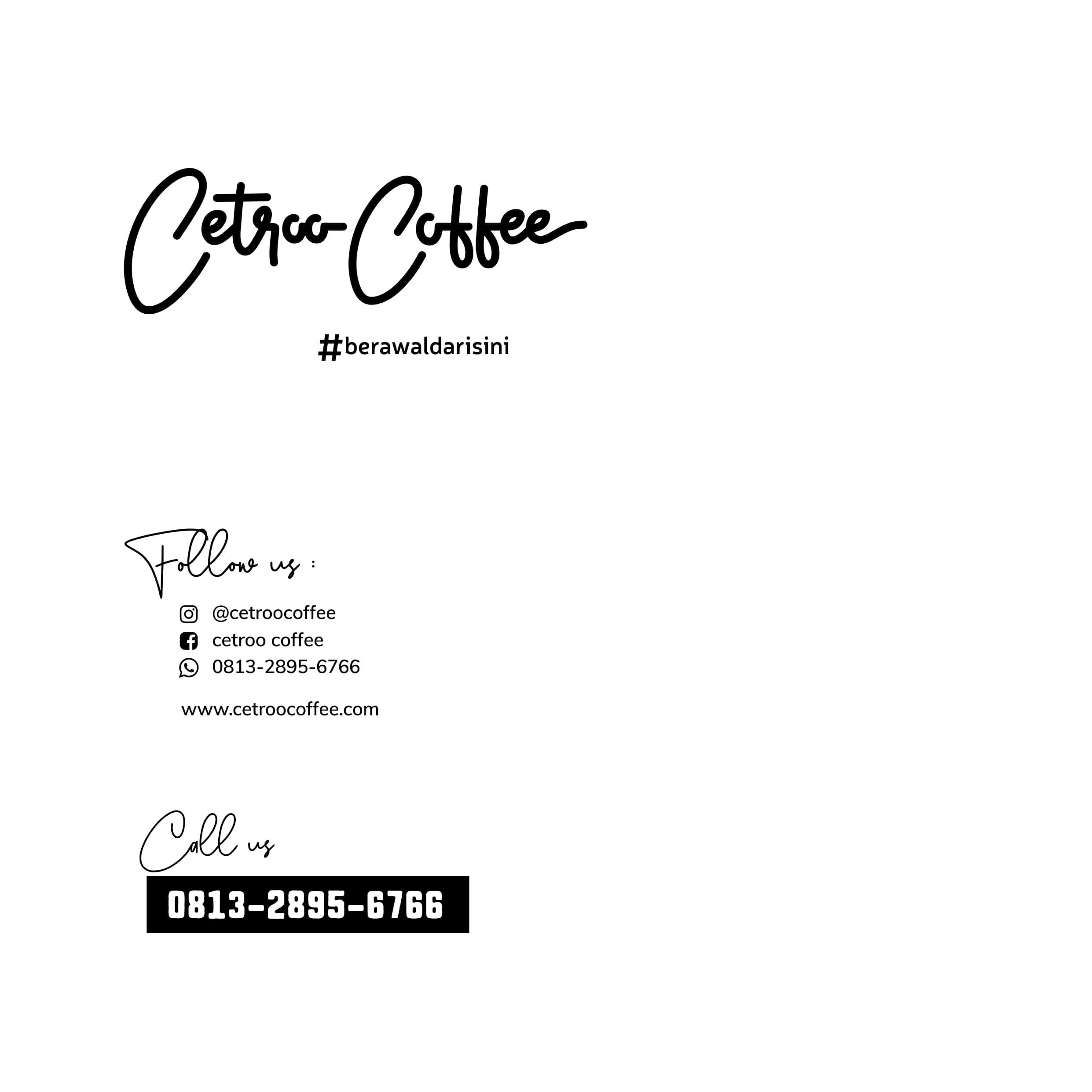 kontak franchise kopi susu cetroo