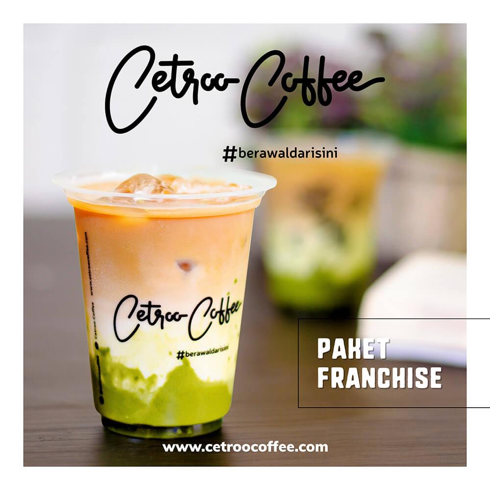 Katalog franchise kopi susu Cetroo Coffee