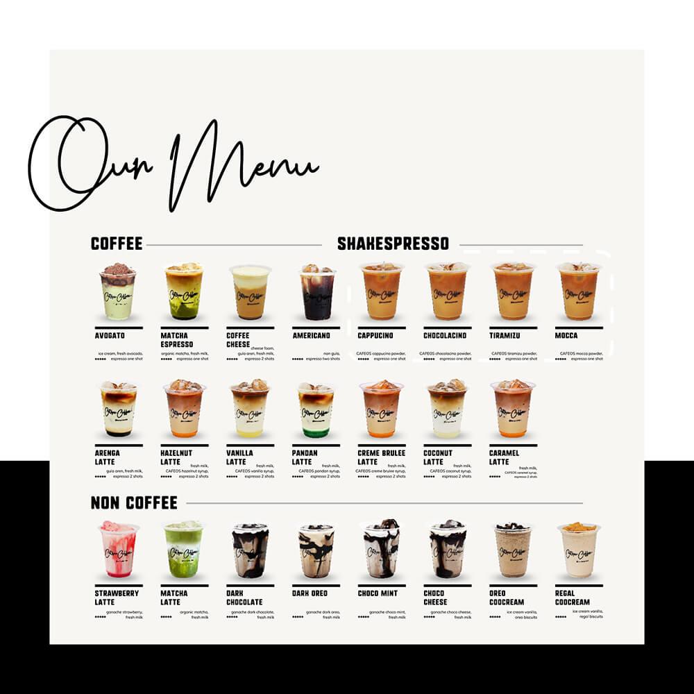 katalog varian rasa minuman kopi kekinian Cetroo