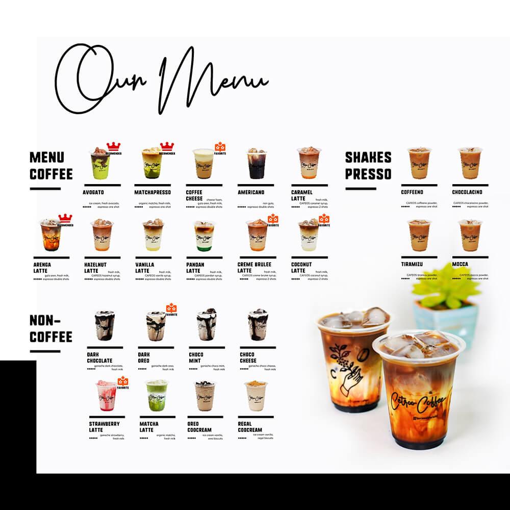 varian menu cetroo coffee