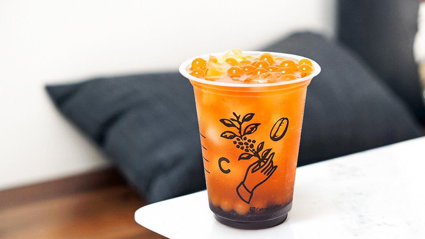 Minuman teh boba dari Cetroo Coffee