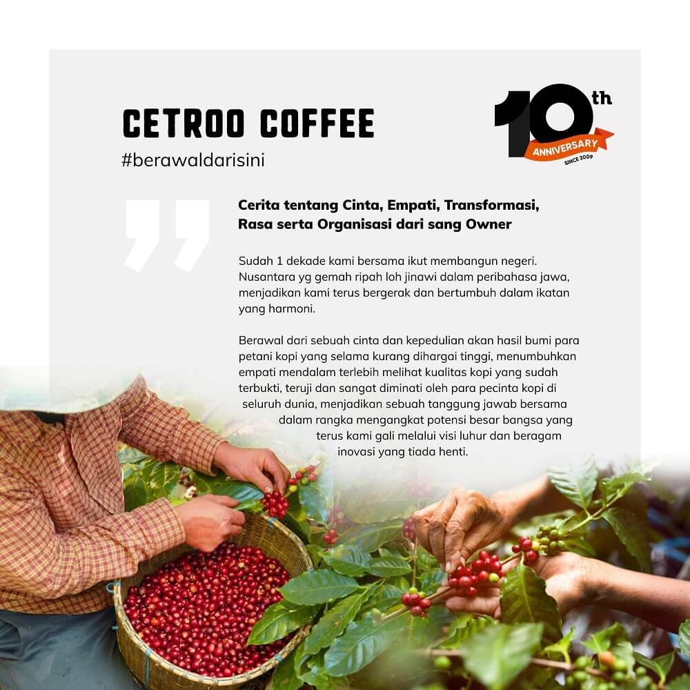 tentang sejarah cetroo coffee
