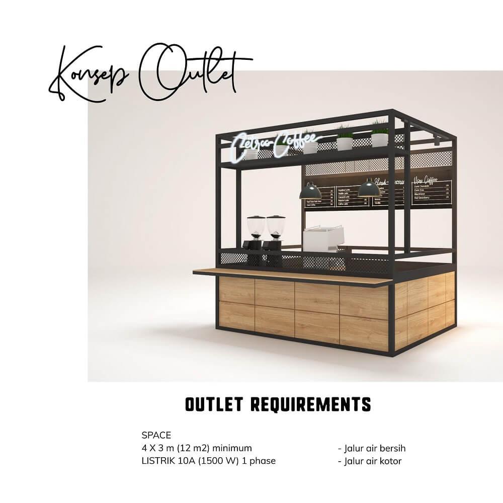 waralaba minuman kopi model booth stand